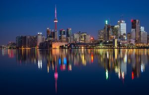 The view of Toronto, one of the top cities to live in Canada.