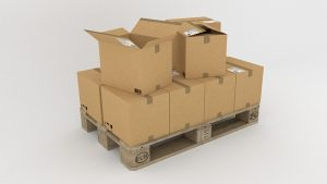 Boxes on the pallet